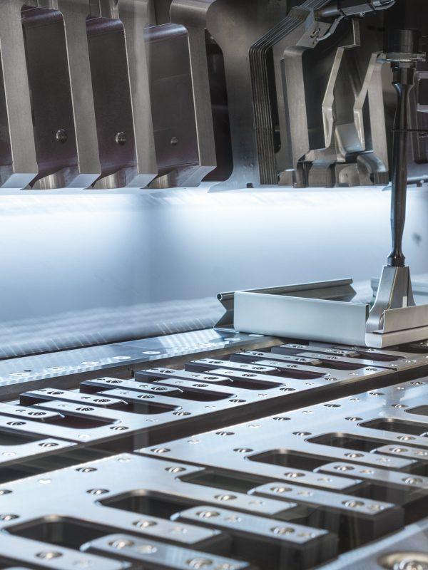 Modern hydraulic high-precision bending machine. CNC machine tool.